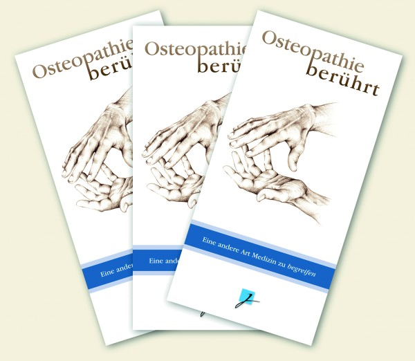Praxisbroschüre: Osteopathie - neutral (blau-weiß)