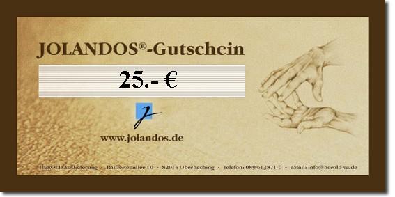 JOLANDOS - Gutschein 25 Euro