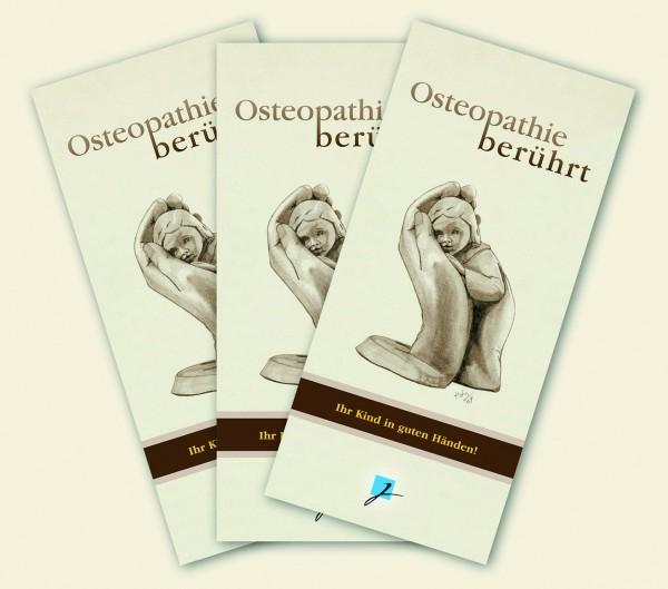 Praxisbroschüre: Kinderosteopathie - klassik (braun-beige)